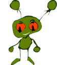 download Green Little Creature clipart image with 315 hue color