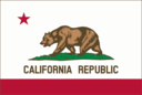 Flag Of California Thin Border