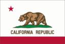 Flag Of California Thin Border