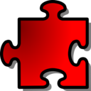 Red Jigsaw Piece 12