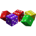 Five Colored Dice