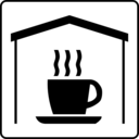 download Hotel Icon Has Coffee In Room clipart image with 135 hue color