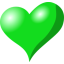 download Heart clipart image with 135 hue color