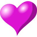 download Heart clipart image with 315 hue color