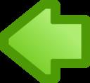 Icon Arrow Left Green