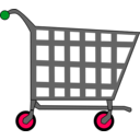 download Basic Shopping Cart clipart image with 135 hue color