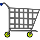 download Basic Shopping Cart clipart image with 225 hue color