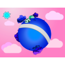 download Little World clipart image with 135 hue color