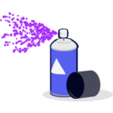 download Spray Paint In Action clipart image with 225 hue color