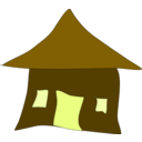 download A Simple Hut Home clipart image with 45 hue color
