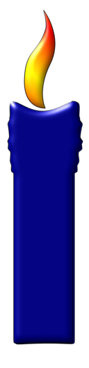 A Blue Color Candle