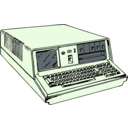 download 70s Era Portable Computer clipart image with 45 hue color