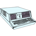 download 70s Era Portable Computer clipart image with 135 hue color