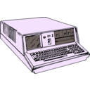 download 70s Era Portable Computer clipart image with 225 hue color