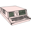 download 70s Era Portable Computer clipart image with 315 hue color