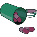 download Spilled Pills clipart image with 135 hue color