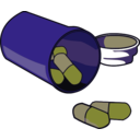 download Spilled Pills clipart image with 225 hue color