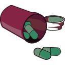 download Spilled Pills clipart image with 315 hue color