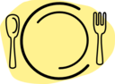 Dinner Plate With Spoon And Fork