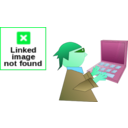 download Computer Geek clipart image with 135 hue color