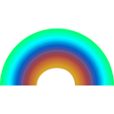 download Rainbow clipart image with 135 hue color