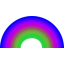 download Rainbow clipart image with 225 hue color