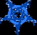Pentagramme Taches Bleues