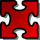 Red Jigsaw Piece 03