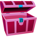 download Treasure Chest clipart image with 315 hue color