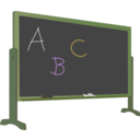 download Blackboard With Stand And Letters clipart image with 45 hue color