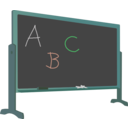 download Blackboard With Stand And Letters clipart image with 135 hue color