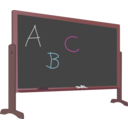 download Blackboard With Stand And Letters clipart image with 315 hue color