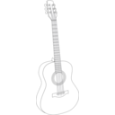 download Guitar 1 clipart image with 315 hue color