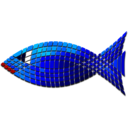 Tiled Blue Fish