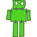 download Blue Robot clipart image with 225 hue color