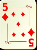 Ornamental Deck 5 Of Diamonds