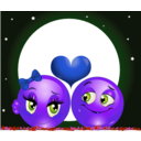 download Moon Lovers Smiley Emoticon clipart image with 225 hue color