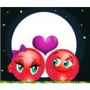 download Moon Lovers Smiley Emoticon clipart image with 315 hue color