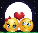 Moon Lovers Smiley Emoticon