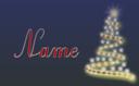 Weihnachtskarte Mit Name Als Volage