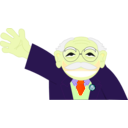 download Old Man Smiling clipart image with 45 hue color