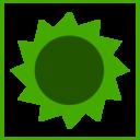 Eco Green Sun Icon