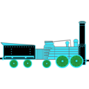 download Locomotive clipart image with 135 hue color