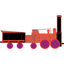 download Locomotive clipart image with 315 hue color
