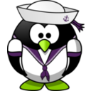 download Sailor Penguin clipart image with 45 hue color
