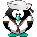 download Sailor Penguin clipart image with 135 hue color