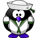 download Sailor Penguin clipart image with 225 hue color