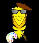 Hipster Bee Artist