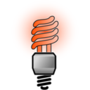 download Energy Saver Lightbulb Bright clipart image with 315 hue color