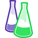 download Chemical Flasks clipart image with 45 hue color